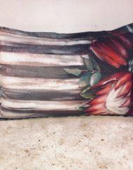 Protea prints on cushion